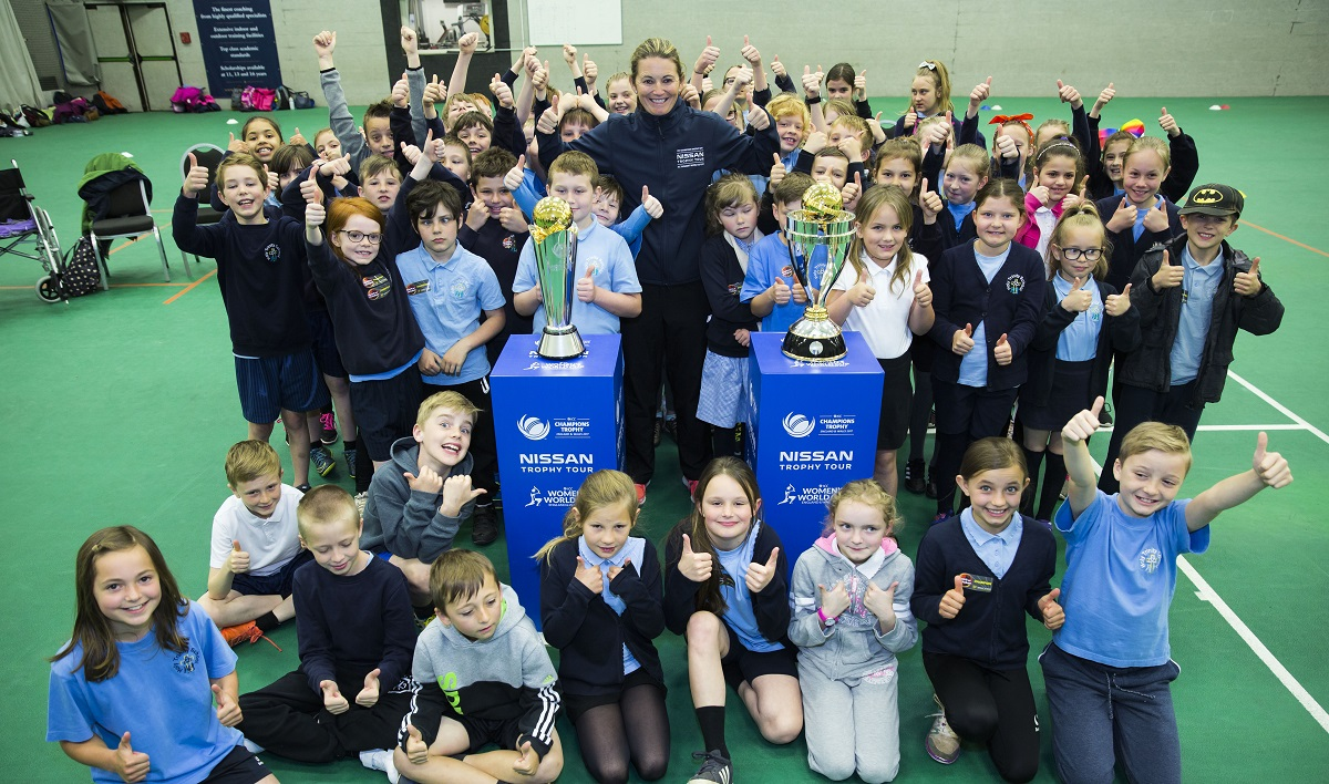 Nissan Of Queens >> Charlotte Edwards launches the ICC Nissan Trophy Tour in ...