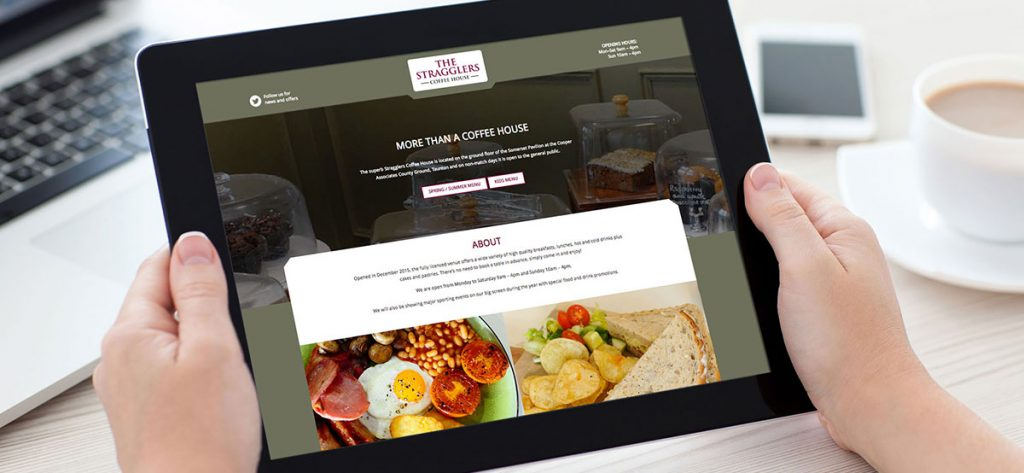 Stragglers Coffee House Website, created by Liqourice