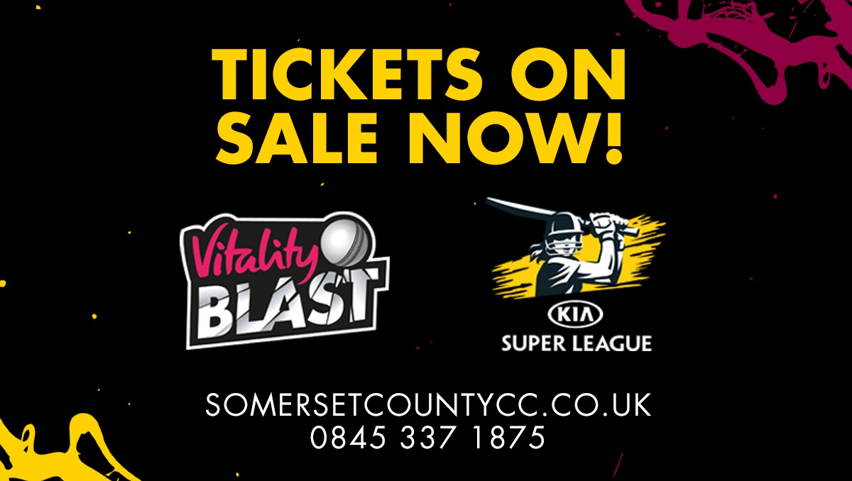 All tickets now on sale! - Somerset County Cricket Club